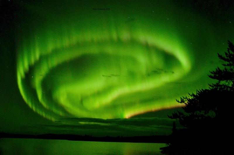 Northern Lights & Big Dipper over Cobham Daniel Cabin
